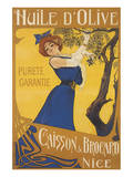 Huile d'Olive Caisson and Brocard, Nice Posters by A. Gimello
