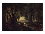 Forest Path near Spandau Prints by Karl Blechen