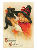 Halloween Greetings Poster by Frances Brundage