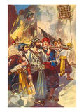 Morgan Re-entered The City With His Troops Posters by George Alfred Williams