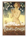 Fleurs de Mousse de Sauze Freres Posters