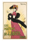 Les Parfums de J. Davier Prints by Leonetto Cappiello