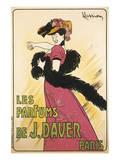 Les Parfums de J. Davier Prints by Leonetto Cappiello