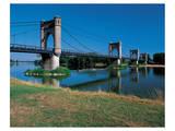 Old Suspension Bridge France Prints