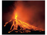 Volcano Eruption Poster