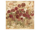 Floral Frenzy Burgundy I Poster by Alan Hopfensperger