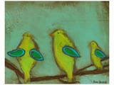 Key Lime Finches II Prints by Anne Hempel