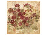 Floral Frenzy Burgundy II Print by Alan Hopfensperger