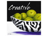 Zebra Bowl II Posters by Cathy Hartgraves