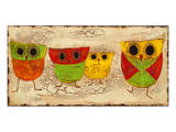 Owl Family I Prints by Anne Hempel