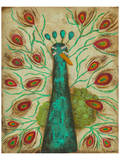 Spirited Peacock I Posters by Anne Hempel