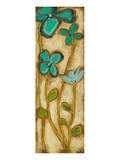 Tall Turquoise Blooms II Prints by Anne Hempel