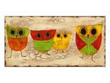 Owl Family I Schilderijen van Anne Hempel