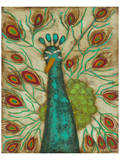 Spirited Peacock II Prints by Anne Hempel