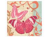 Fuschia Butterfly I Print by Alan Hopfensperger