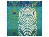 Peacock Bath IX Art by Alan Hopfensperger