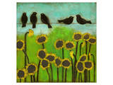 Birds on a Wire I Poster by Anne Hempel