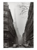 Foggy Paris in Black and White Print