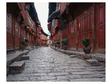Red Lanterns In Chinese Alley Poster
