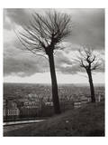 Montmartre over Paris Poster