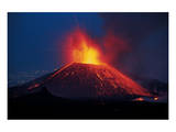 Lava Eruption Etna Posters