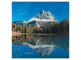 Antorno Lake Tre Cime Italy Poster