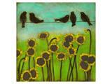 Birds on a Wire II Poster by Anne Hempel