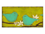 Turquoise Birds with Nest I Posters by Anne Hempel