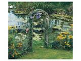 Flower Garden Pond Posters