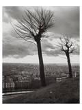 Montmartre over Paris Posters