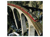 Swiss Train Bridge Prints