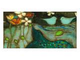 Sea Garden Triptych III Posters by Anne Hempel