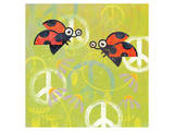 Peace Sign Ladybugs III Posters by Alan Hopfensperger