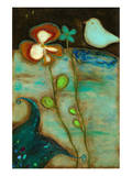 Sea Garden Triptych II Prints by Anne Hempel
