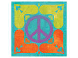 Peace Sign Quilt I Prints by Alan Hopfensperger