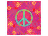 Peace Sign Floral Hearts II Prints by Alan Hopfensperger