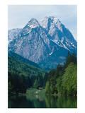 Mountain Cabin on the Lake Prints