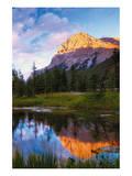 Lake and Peak Poster