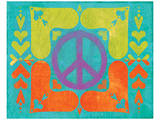 Peace Sign Quilt II Prints by Alan Hopfensperger
