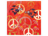 Peace Sign Ladybugs I Posters by Alan Hopfensperger