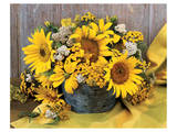 Sunflower Arrangement II Poster