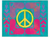 Peace Sign Quilt IV Poster by Alan Hopfensperger
