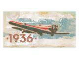 Vintage Plane III Print by Alan Hopfensperger