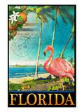 Flamingo. Kunstdrucke von Chris Vest