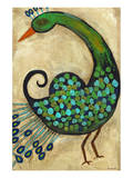 Preening Peacocks II Prints by Anne Hempel