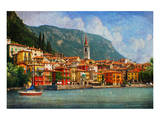 Lake Como Village, Italy Posters by Chris Vest