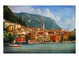 Lake Como Village, Italy Kunstdrucke von Chris Vest