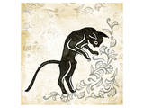Standing Burlap Cat Prints by Alan Hopfensperger