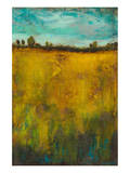 Turquoise Sky meets Golden Field II Prints by Anne Hempel