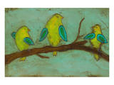 Key Lime Finches I Prints by Anne Hempel